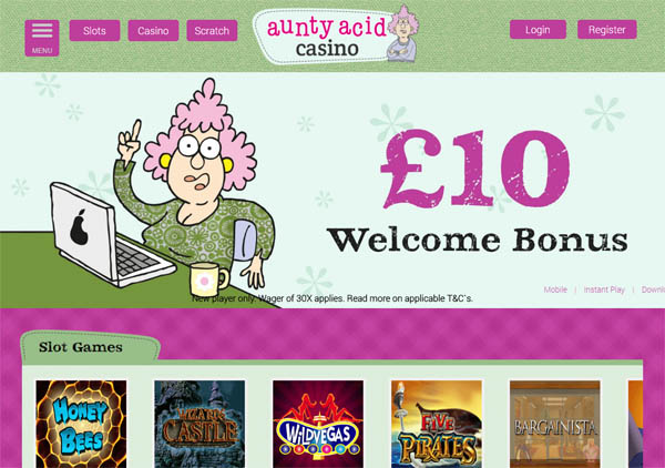 Aunty Acid Casino With Credit Card