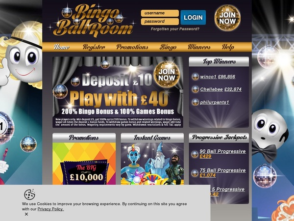 Bingo Ballroom Bitcoin Deposit