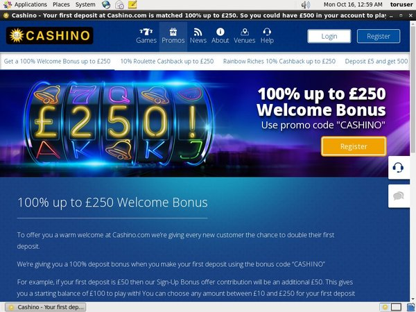 Cashino No Deposit