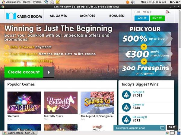 Casino Room Free Spins Starburst