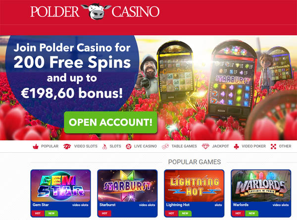 Create Polder Casino Account