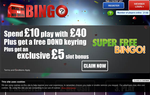 Deal Or No Deal Bingo Gratis Dinero