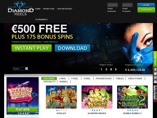 Diamond Reels Casino Registar