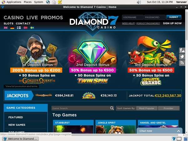 Diamond7 Online Roulette