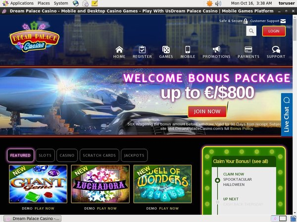 Get Dream Palace Casino Free Bet