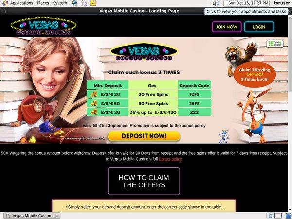 Get Vegas Mobile Casino Free Bet