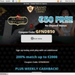 Grand Fortune Best Deposit Bonus