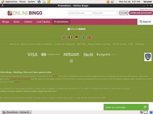 Online Bingo Bonus Free Spins