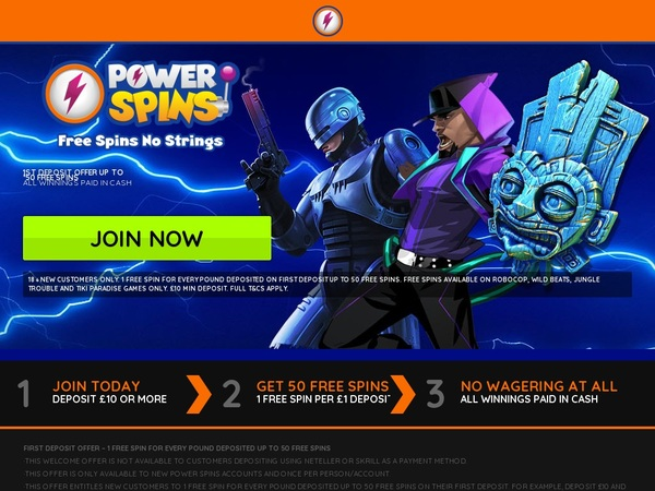Powerspins Account Bonus