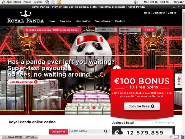 Royalpanda Free Spins No Deposit