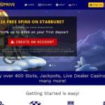 Spin Prive Casino Deposit Methods