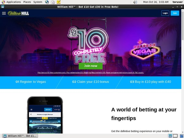 Williamhill Kasino Bonus