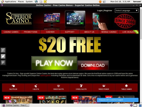 Superior Casino Skrill Deposit