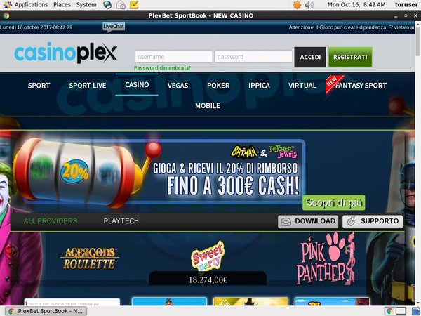 Casion Plex .it Online Betting