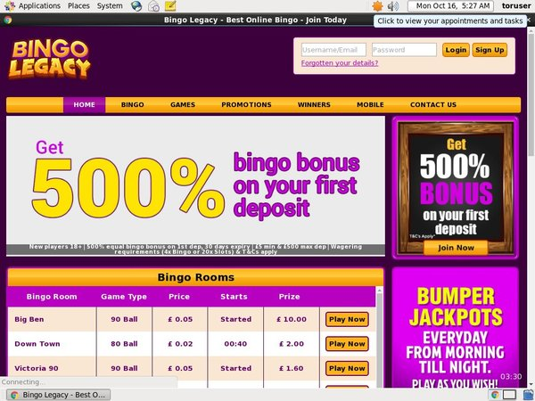 Bingolegacy Bonus Money