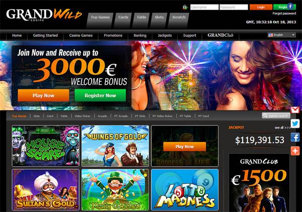 Grandwild Online Casino Offers