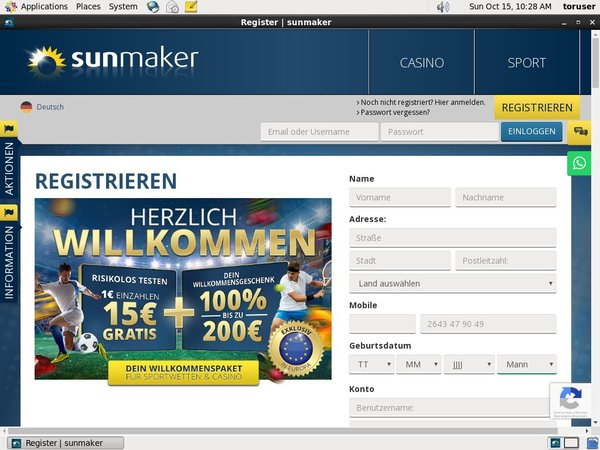 Sunmaker New Customer
