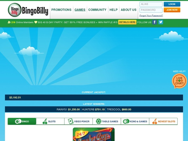 Bingobilly First Deposit Bonus