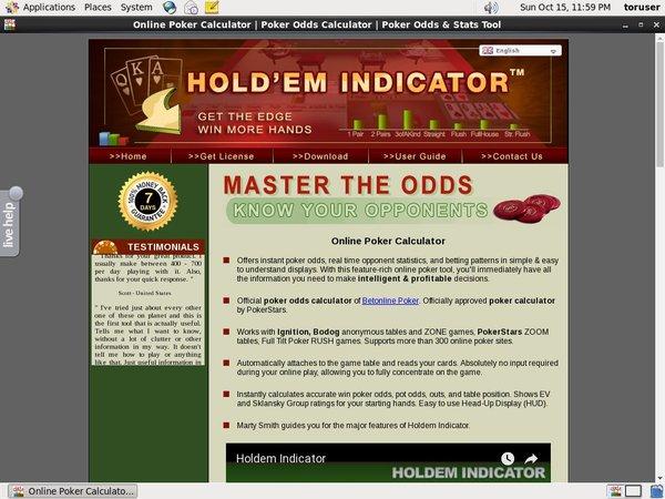 Free Holdemindicator Bet
