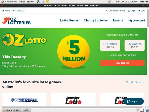 Oz Lotteries Mobile Login