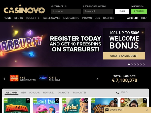 Casinovo 300 Bonus