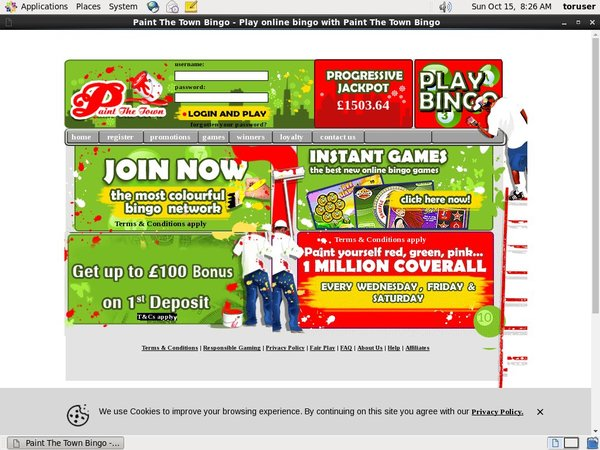 Paint The Town Bingo Online Casino Websites