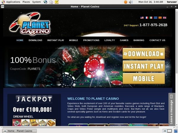 Planet Casino Free Plays