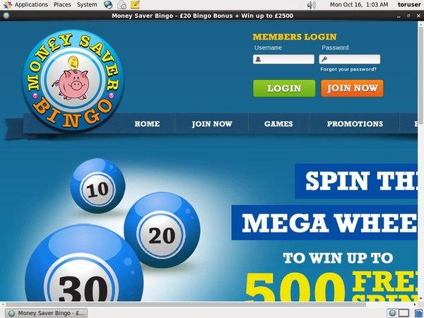 Money Saver Bingo Liittyä