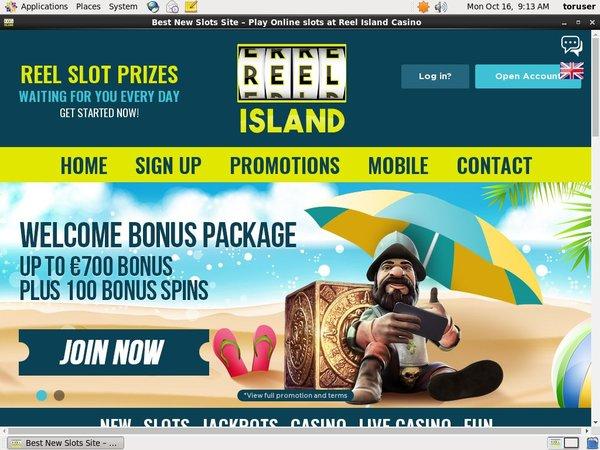 Reel Island Kasino Bonus