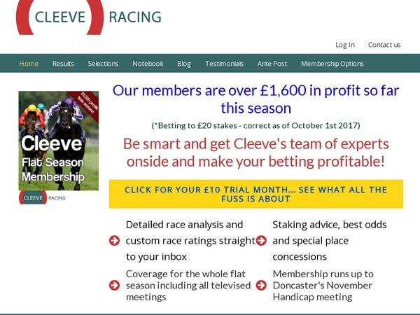 Cleeve Racing Odds To Win
