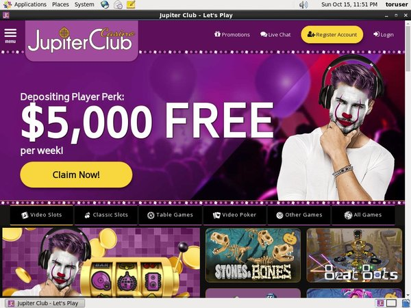 New Jupiter Club Bonus