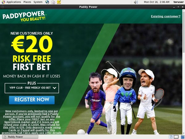Paddy Power Sports Betting Registration