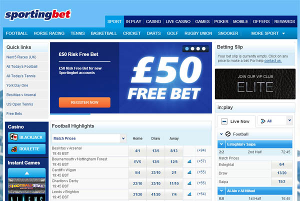 Sportingbet Sign Up Deal