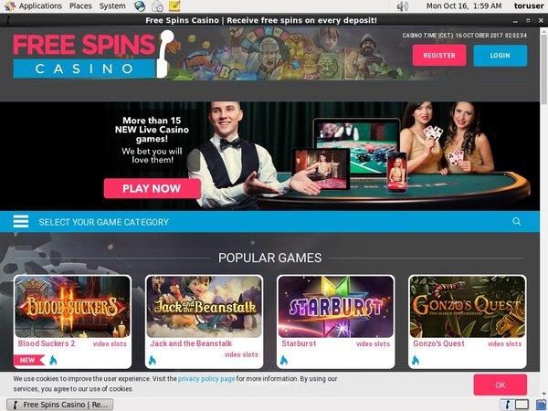 Free Spins Casino Promo Code 2017