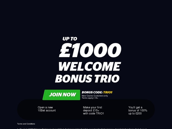 10bet Sign Up