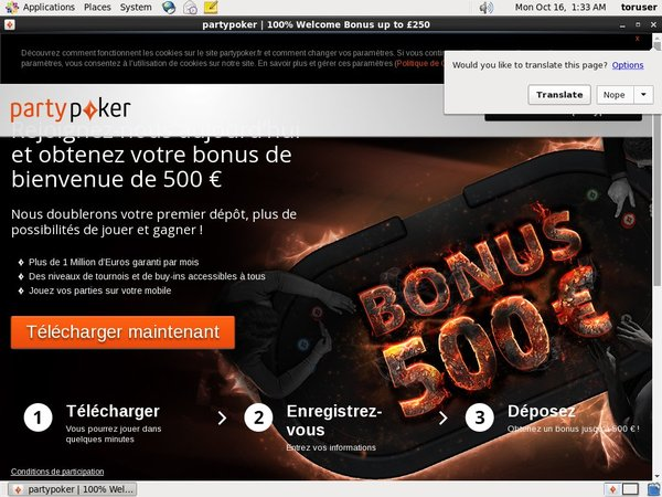 Joining Partypoker