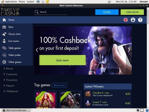 Offer Paris VIP Casino