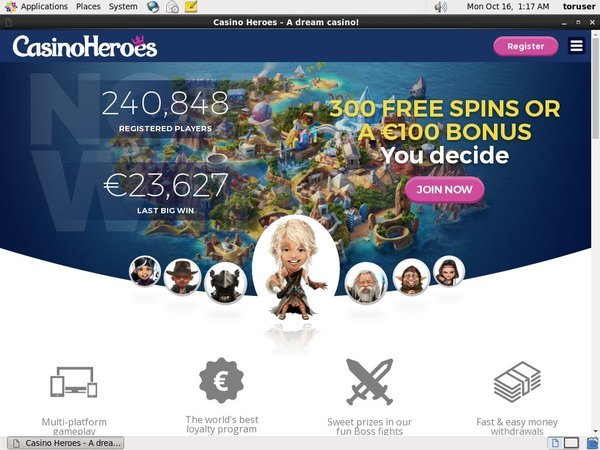 Casinoheroes Starburst Free Spins