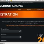 Goldrun Registration Page