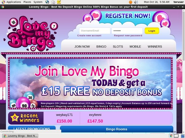 Love My Bingo Casino Bonus Code