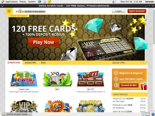 Primescratchcards Games And Casino