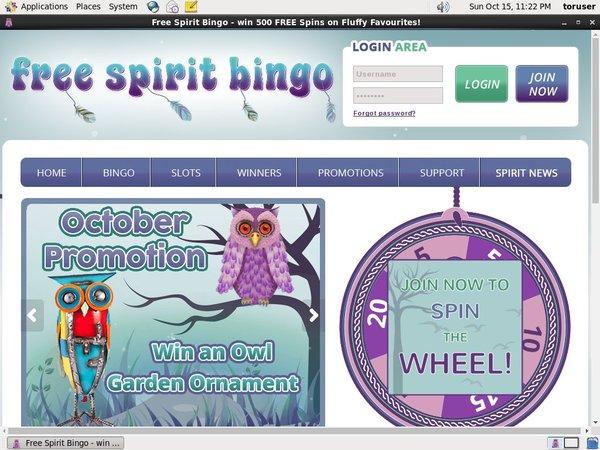 Free Spirit Bingo Wagering