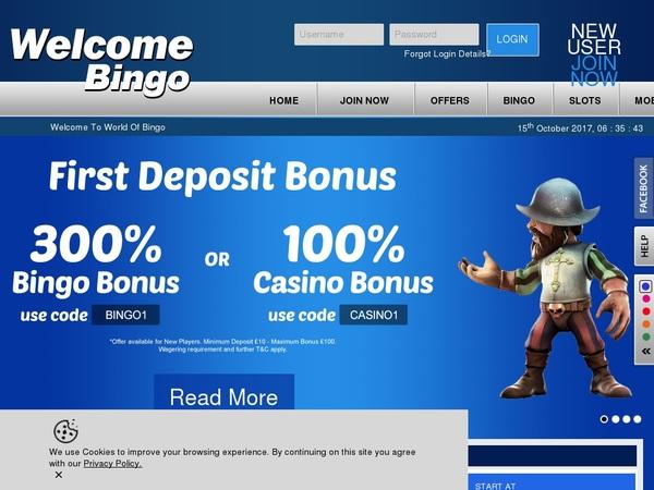 Welcome Bingo Money Bookers