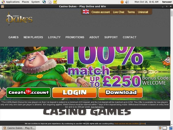 Casino Dukes New Customer Offer
