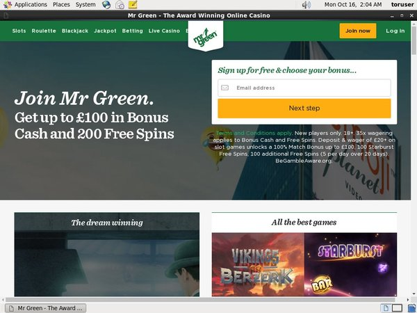 Mrgreen Joining Bonus
