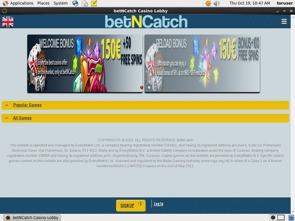 Bet N Catch Login