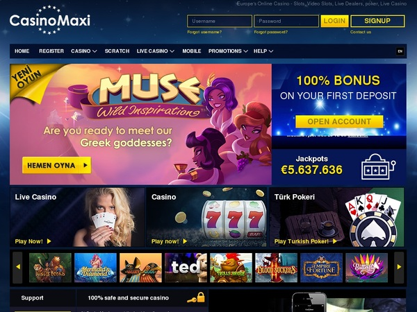 Casinomaxi 50 Free Spins