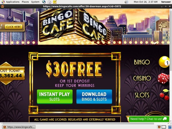 New Bingocafe Promotions