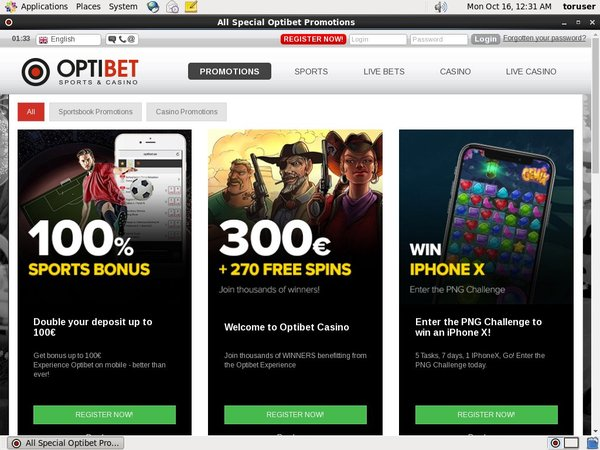 Optibet.ee Australia Dollars