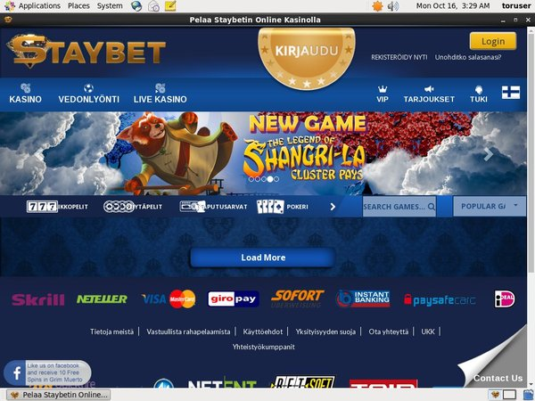 Staybet Player Account